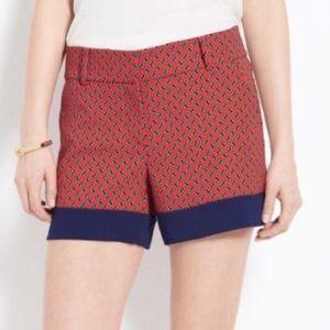 EUC Ann Taylor Nautical Shorts Red Blue White